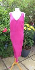 GORGEOUS POETRY FUCHSIA PINK SILK/COTTON BLEND DRESS SIZE 20 CHEST 44""