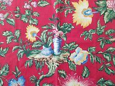 Lee Jofa YANGTZE PRINT RED Chinese Asian Oriental Toile Cotton Panel