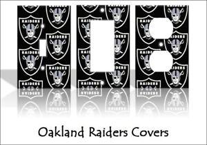 Oakland Raiders Las Vegas Light Switch Covers Football NFL Home Decor