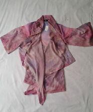 Polyester 3/4 Sleeve Regular Size Wrap Tops for Women