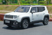 1/18 Scale Jeep Renegade Suv White Diecast Car Model Toy Collection Gift