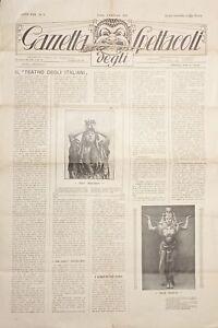 Gazzetta degli Spettacoli N. 3 - Ester Mazzoleni - 1923