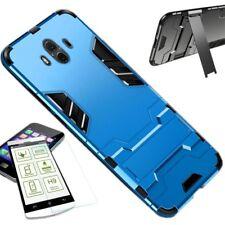 Für Huawei Mate 20 Lite Tasche Metal Style Hybrid Case Hülle Hellblau + H9 Glas