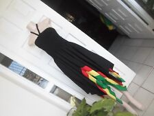 Sexy Dress Off Shoulder Rasta Color Handmade 100% Cotton Fit size M - 3XL  UK 18