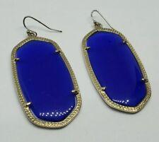 Cats Eye Glass Gold Earrings Kendra Scott Danielle Cobalt Blue