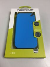 PureGear iPhone 5C Slim Folio Wallet Case BLUE Holds Credit Cards