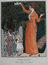 PIERRE BRISSAUD GAZETTE BON TON PL.9, 1913, BONNE CHASSE