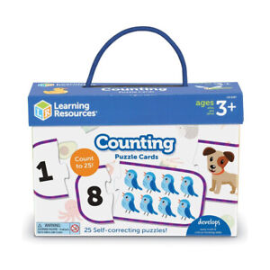 Learning Resources Counting Puzzle Cards 25 Cards With Pictures LER6087 Age 3+