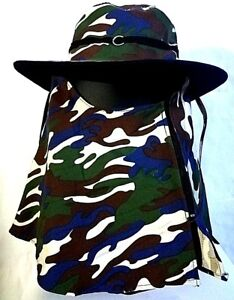 Cover Boonie Hiking Dust Sunlight Wind Protection Military Camo Hat Fishing Cool