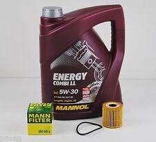 5 L MANNOL Energy LL 5W-30 Longlife mit MANN Ölfilter für Smart