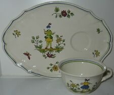 Longchamp French Heritage Moustiers Cup and Snack Plate Set(s)