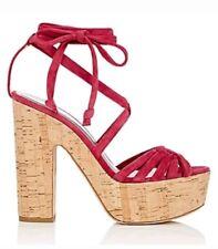 NIB $595 ALCHIMIA DI BALLIN Tara Suede Platform Sandals - Fuchsia - Sz 7