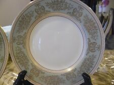 New ListingSet 7 New Wedgwood Gold Columbia Sage Green Dinner Plates, 10 3/4""