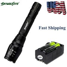 From USA Tactical 20000LM 5 Modes CREE XML T6 LED Flashlight 18650+Charger JSN