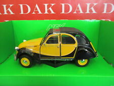 Die cast 1/24 Modellino Auto Citroen 2CV Charleston gialla by Welly