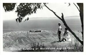 RPPC Postcard; Official Opening of Marineland Aug 28 1954 Palos Verdes CA