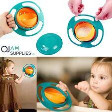 NON SPILL FEEDING TODDLER GYRO BOWL 360 ROTATING BABY KIDS AVOID FOOD SPILLING