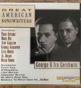 Great American Songwriters George & Ira Gershwin Song CD-1972