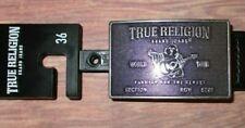 MENS TRUE RELIGION BUDDHA ICONIC LOGO BLACK BELT SIZE 36