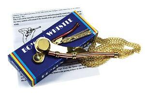 Nautical Brass|Copper Boatswain Whistle Bo'sun Call Bo'sun Pipe In Box