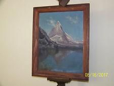 Matterhorn Swiss/Italian Alps Original Oil On Canvas Artist Signed Painting