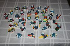 Rare Vintage Smurf Figures Peyo Schleich 1970s 1980s Lot of 36