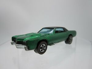 Vtg 1967 Hot Wheels Custom Eldorado Green Redline Redlines - Hong Kong