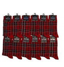 Homme tartan rouge écossais carreaux cheville chaussettes-taille: uk 6-11 - highland écossais scots