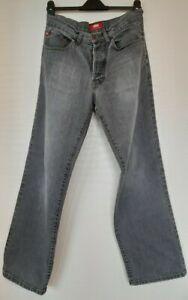 Mens Denim Jeans Straight 34 Reg Leg grey dad style