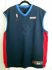 Detroit Pistons Nike NBA Authentics Logos Warmup/Practice Team Jersey Size L