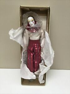 Vintage Balos 'GIGI' Porcelain Doll Jester Clown Mime 1984 Rare Classic