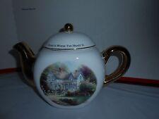 Teleflora Gift Thomas Kinkade Home Is Where The Heart Is Ii Decorative Teapot