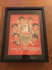 1948 chesterfield cigarette print ad basball players williams dimaggio Mancave