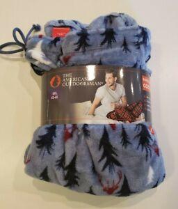 AMERICAN OUTDOORSMAN Men's Blue Fleece Pants Size Large L Pajama Lounge NWT