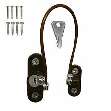 Brown Window Door Cable Restrictor Ventilator Child Safety Tested Security Lock