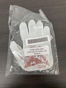 TurtleSkin White CP Insider Gloves Size Medium BRAND NEW