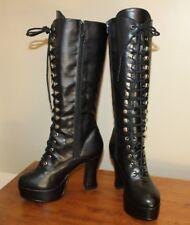 Funtaisma Pleaser Womens Boots Sz 7 Exotica-2020 Black Platform Heel Knee High