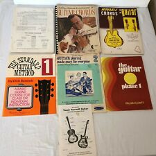 Book Lot Teach Yourself to Play Guitar Standard Guitar Method Instructions Guide