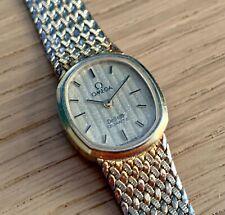Ladies Gold Plated Omega Deville Quartz Watch & Bracelet