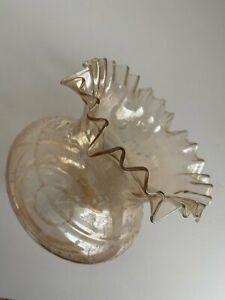 antik Lampenschirm Glas Glasschirm Frankreich Jugendstil