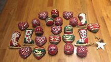 christmas ornament set Of 24 Handmade In USA Mint Condition