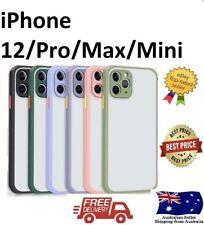 iPhone 12 mini 12 Pro Max Matte Hard Case Shockproof Heavy Duty Semi Clear Cover