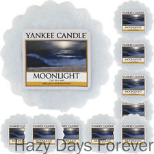 10 YANKEE CANDLE WAX TARTS Moonlight MELTS Fresh Scented