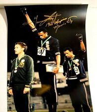 TOMMIE SMITH SIGNED AUTOGRAPH PHOTO COA OLYMPIC GOLD 1968 PROTEST AUTO MEXICO