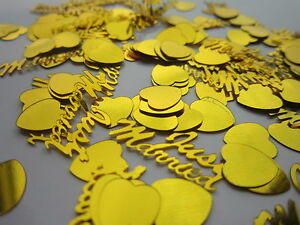 Confetti Table Scatters Just Married Wedding Decor Golden 380 PCS