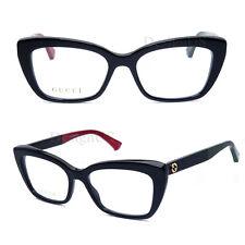 c61dec68582ba GUCCI GG 0165O 003 Black 51 17 140 Eyeglasses Rx Made Italy New