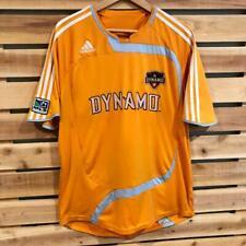 Mens Orange Adidas Houston Dynamo MLS Club Soccer Football Jersey Large
