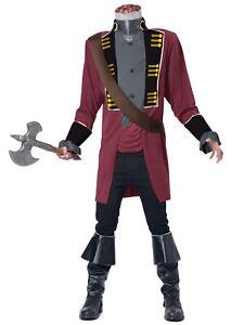 Sleepy Hollow Headless Horseman Medieval Ghost Horror Fox Series Mens Costume