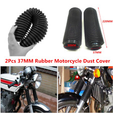 2pcs Motorcycle Dirt Bike Fork Suspension Shock Cover Dust Shield Boots 37MM