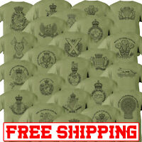 Royal Yeomanry Double Sided Printed Army Olive Green Tshirt sniy lancer reserve